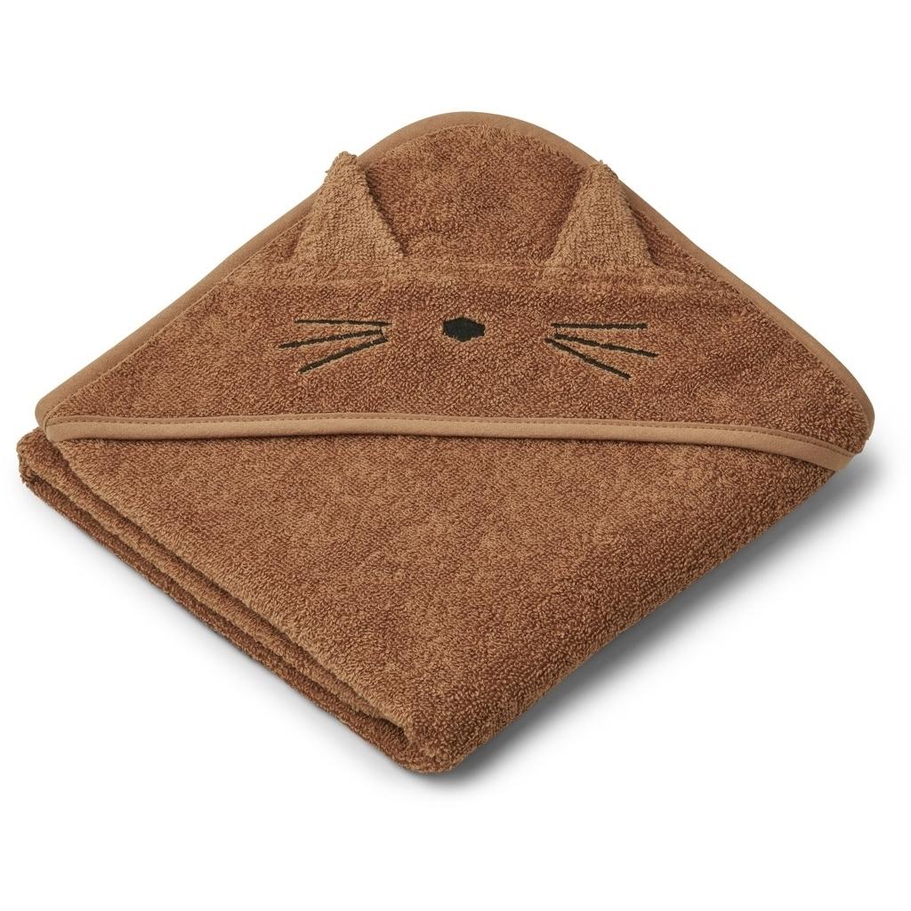 Liewood hupullinen vauvapyyhe kissa terracotta