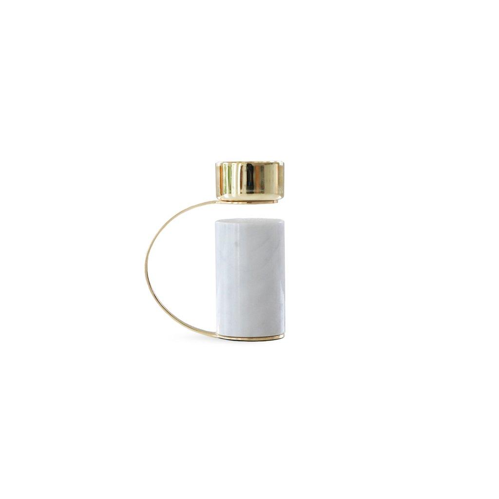 Cooee Design kynttiläjalka valkea marmori