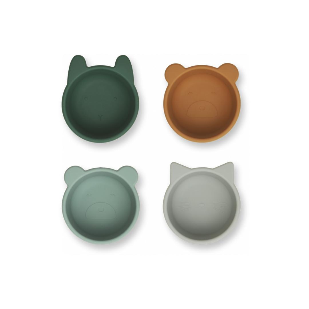 Liewood silikoniset minikulhot vihreä mix