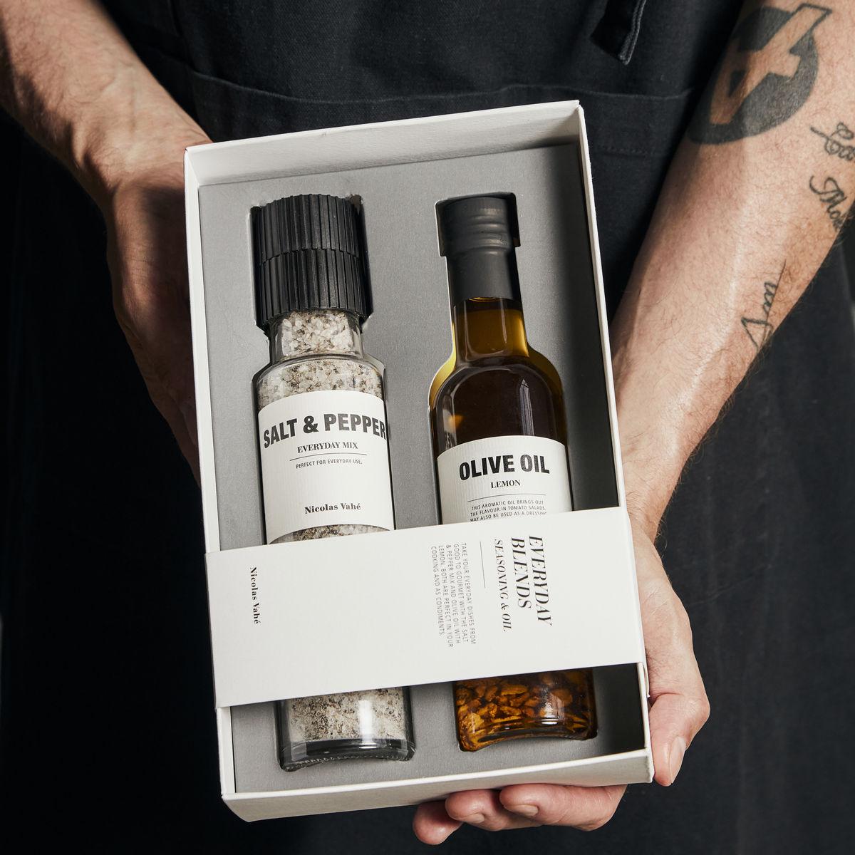 Nicolas Vahe lahjapakkaus suola+öljy