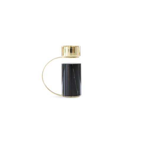 Cooee Design kynttilänjalka musta marmori
