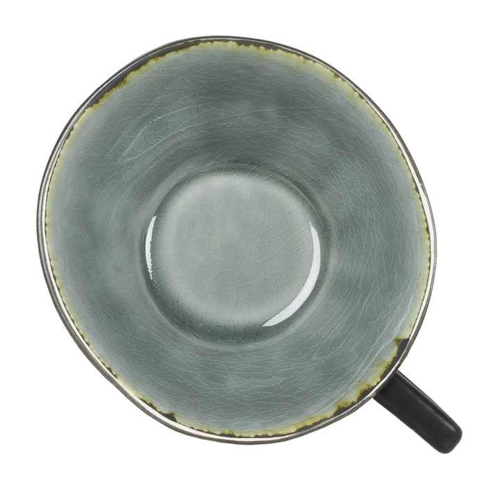 Kopp grå krackelerad