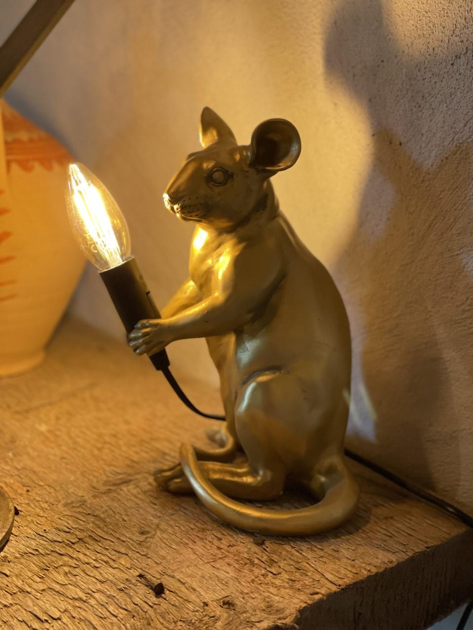 Lampa mus guld
