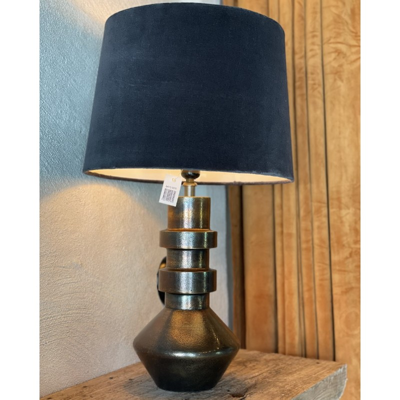Lampskärm mörkblå sammet
