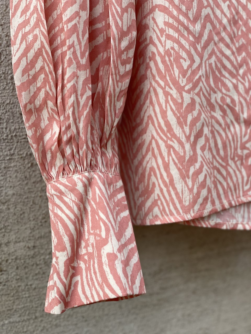 Blus rosa/beige zebra
