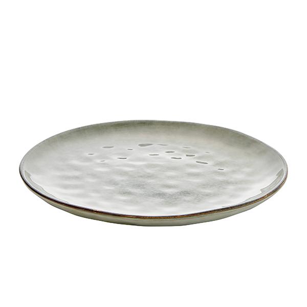 Middagstallrik 28 cm grå/grön