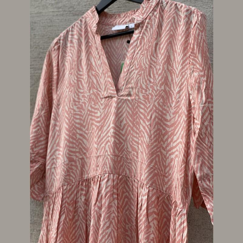 Klänning rosa/beige zebra