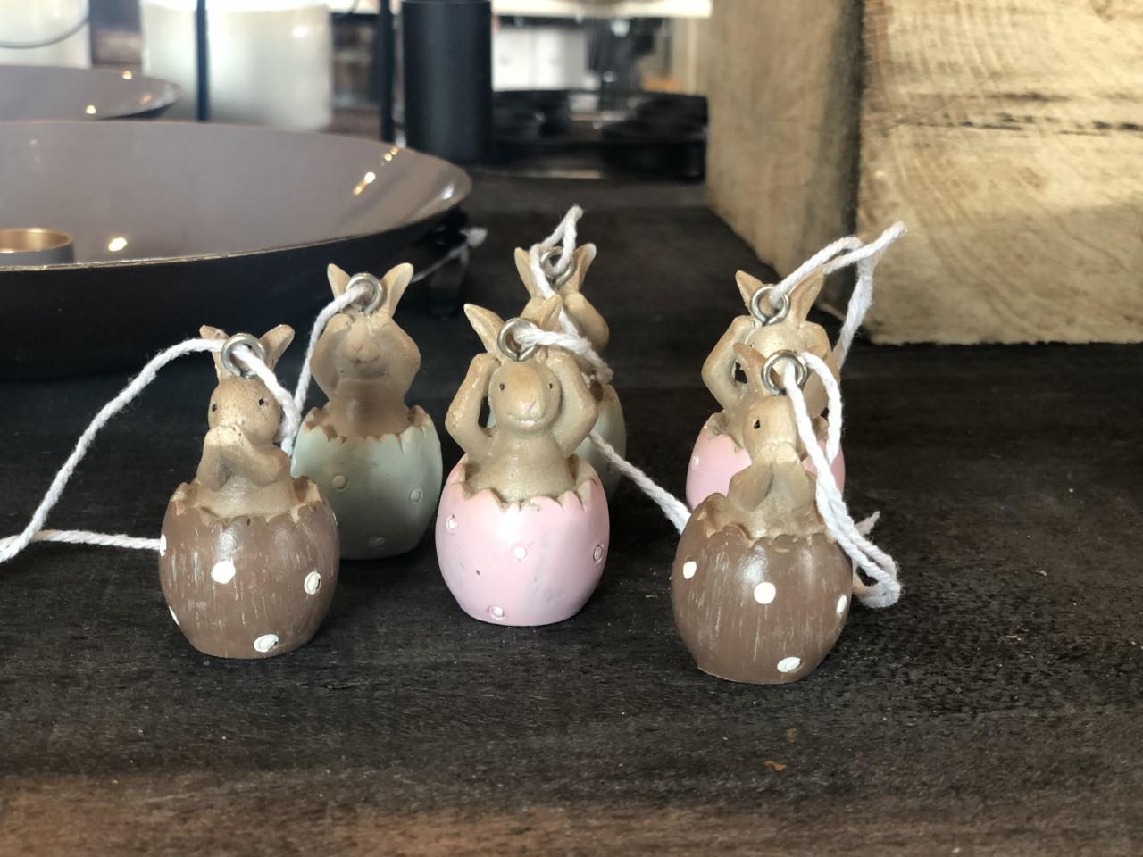 Kanin i ägg häng 6st