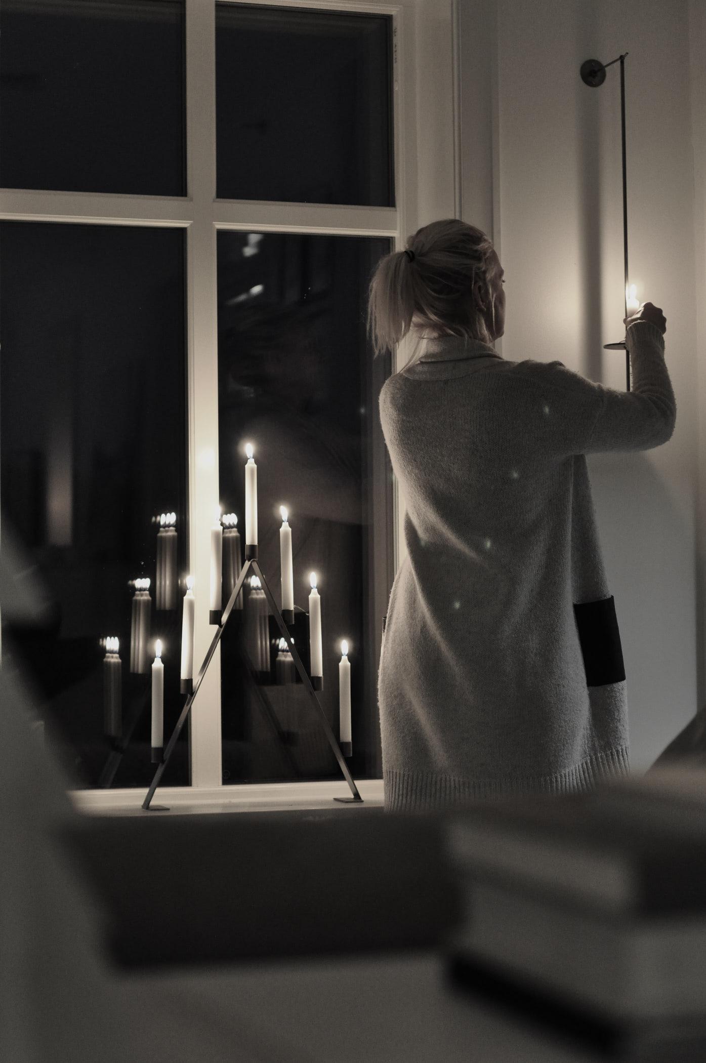 Ljusampel LIV grå