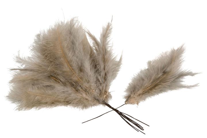 Fjäder/tråd vippa beige