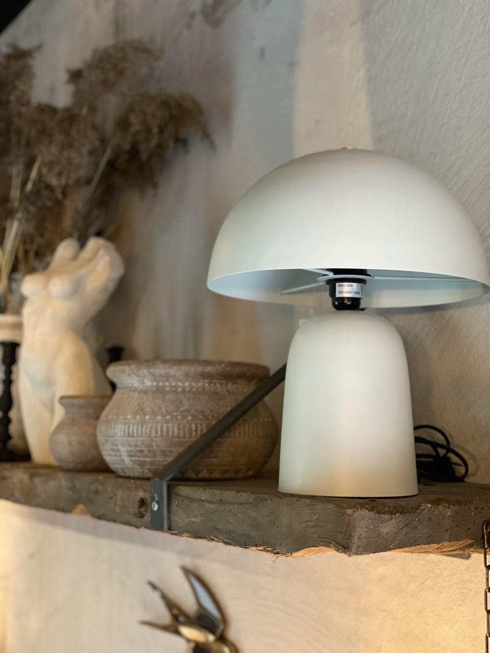 Bordslampa vit