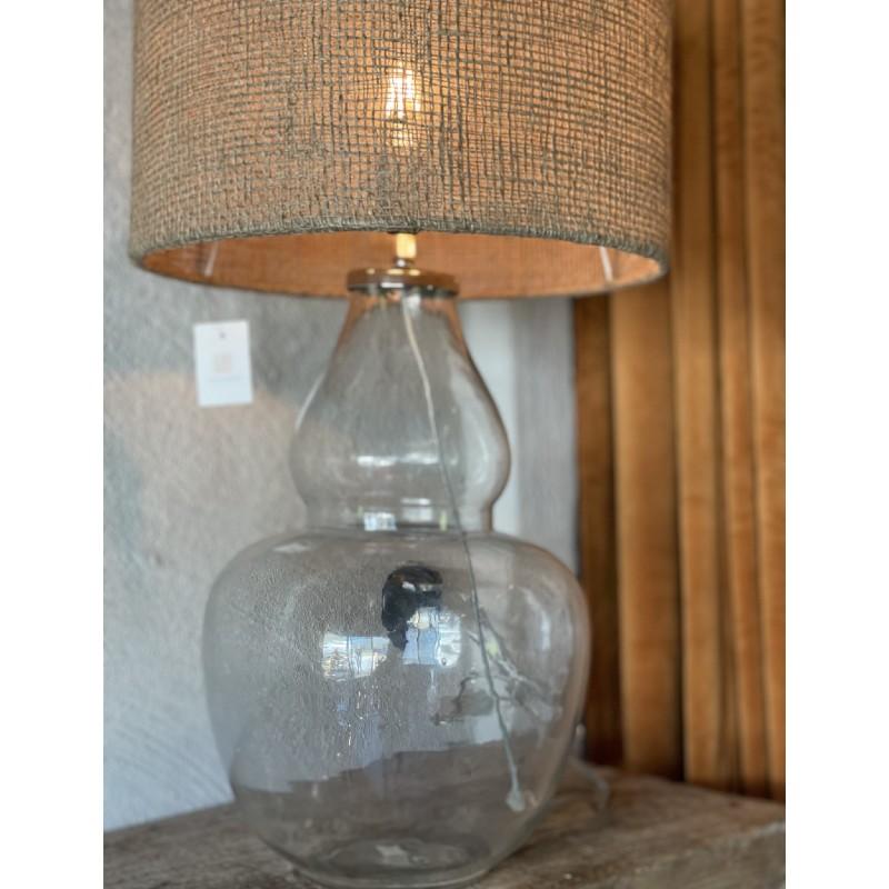 Lampfot i glas