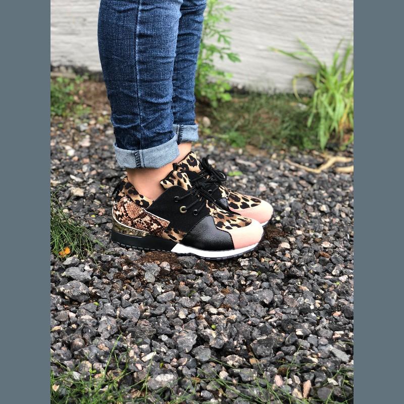Sneakers leopard/snake
