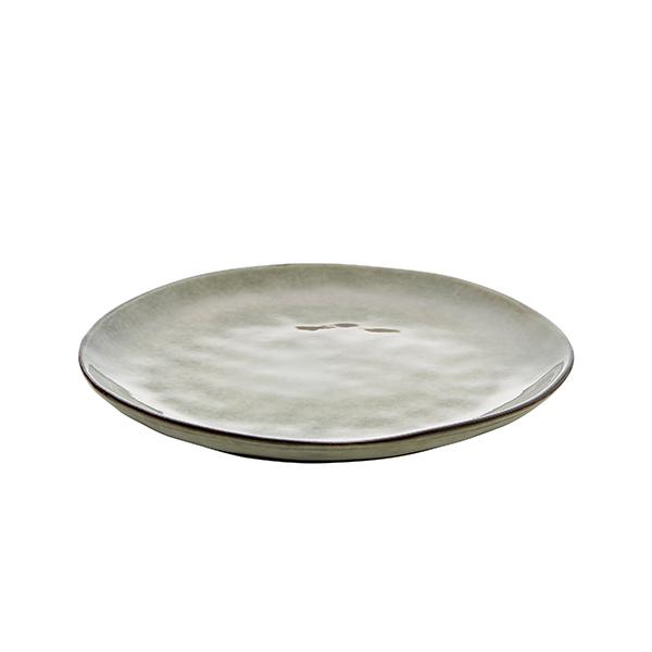 Frukosttallrik 23 cm grå/grön
