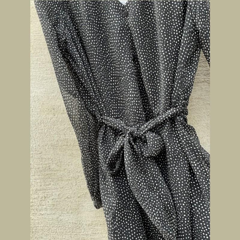 Klänning Frida svart/prickar