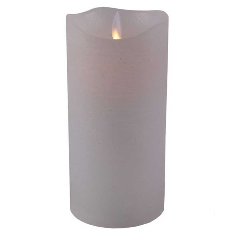 LED ljus vit med flammande låga