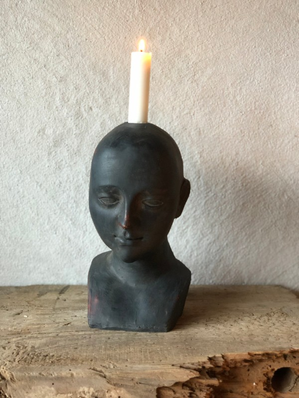 Candle holder head women