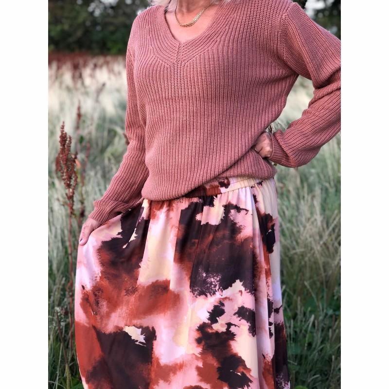 Stickad tröja Caia rosa