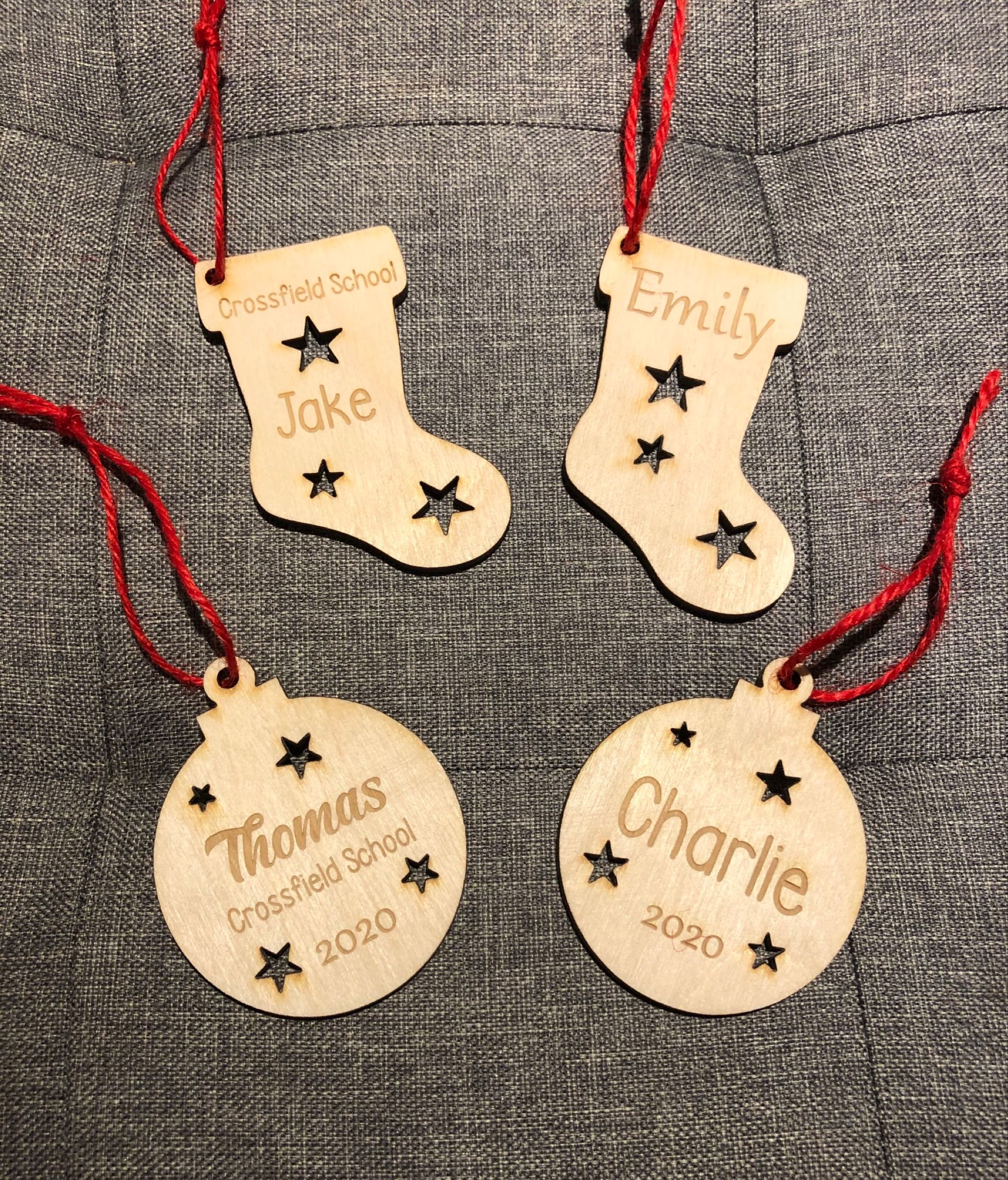 School Offer-Christmas Personalised Decorations
