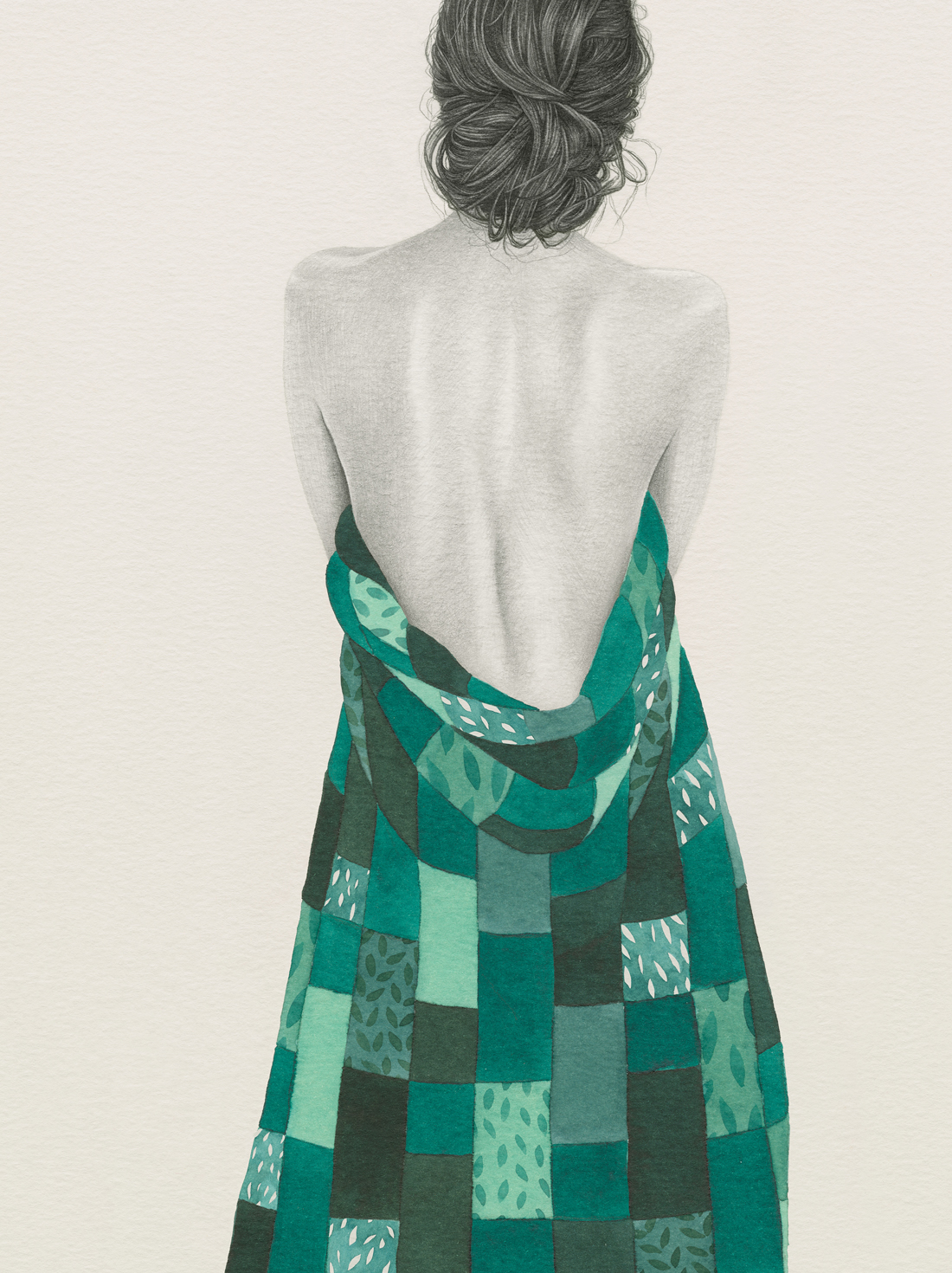 HELENA FRANK - Green Patchwork