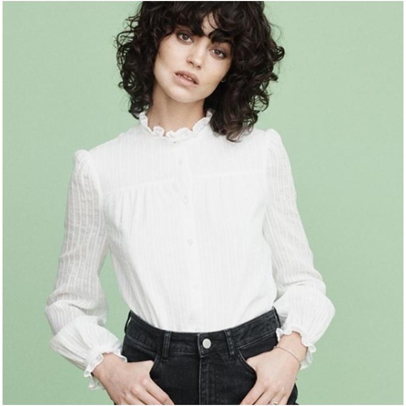 Mayla Joni Blouse White Embroidered