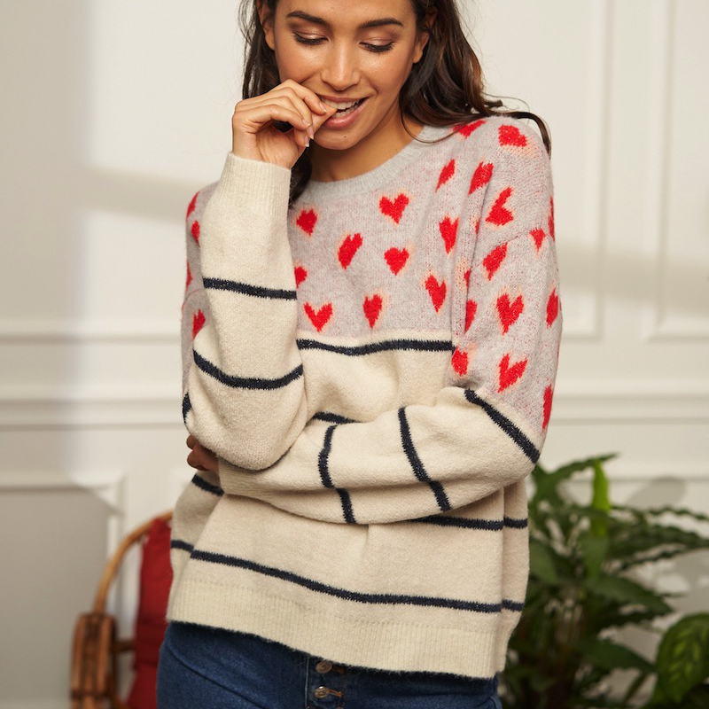 Other Brands Kilky Hearts Knit