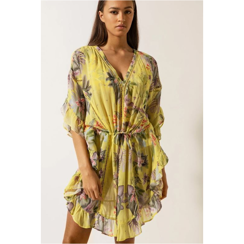By Malina Melia Kaftan Electric Jungle Pineapple