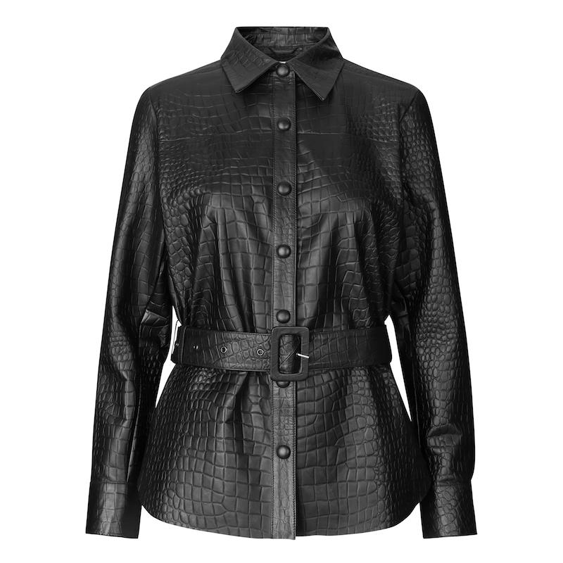 Leveté Room Kylie 3 Leather Shirt