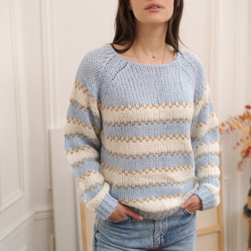 Other Brands Kilky Stripe Knit