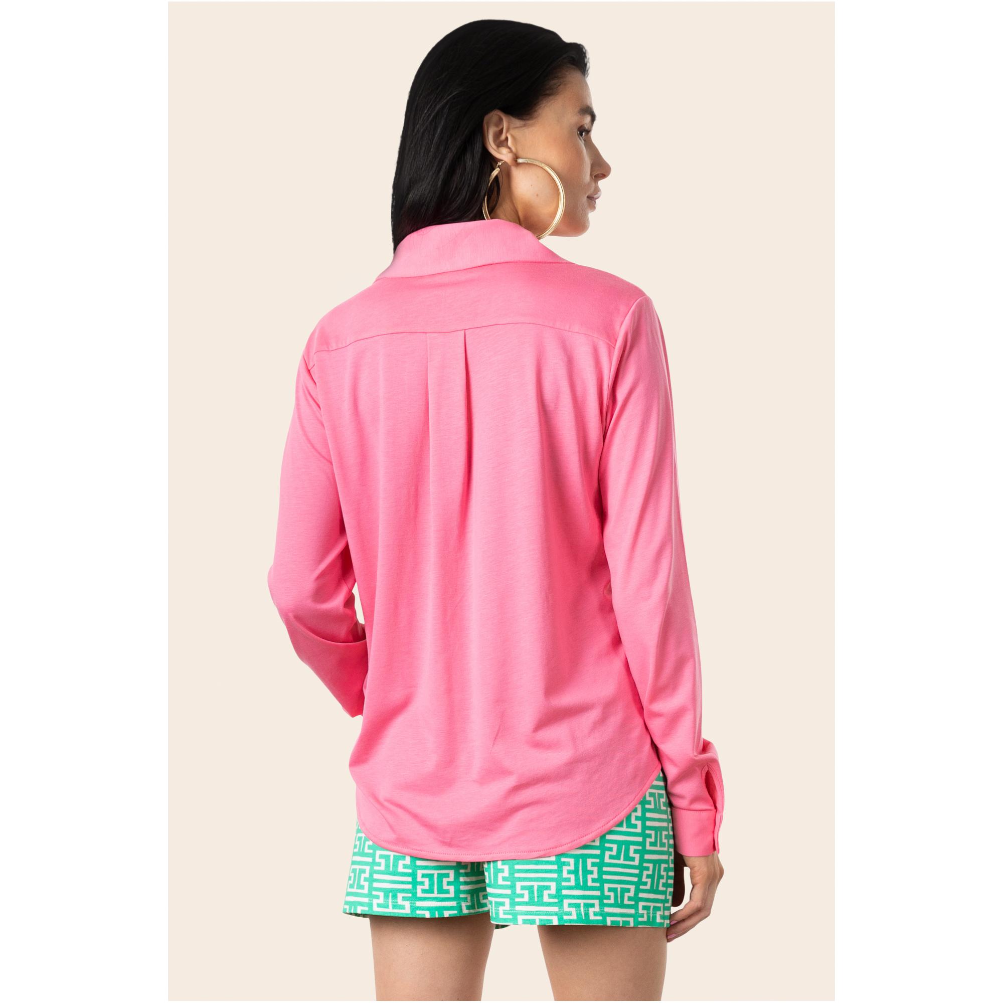 Day Night Casual Retba Pink Shirt
