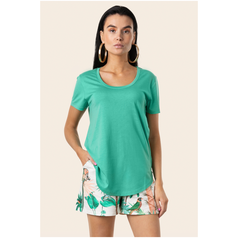 Day Night Casual Jungle Green T-shirt