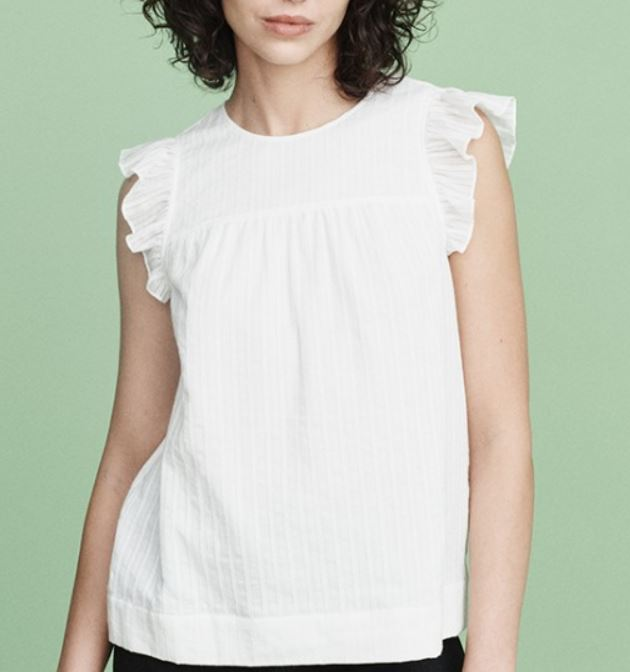 Mayla Zoe Top White Embroidered