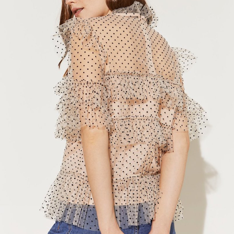 By Malina Rachel Dotted Blouse