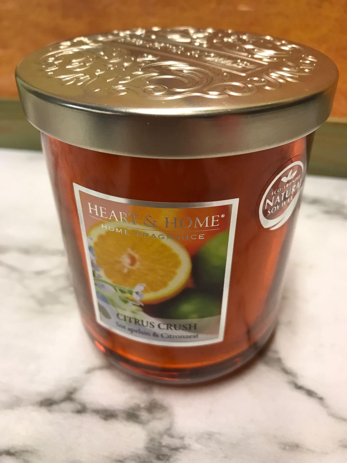 Doftljus 340 g. Söt apelsin/citronzest. Ecofriendly sojavax.