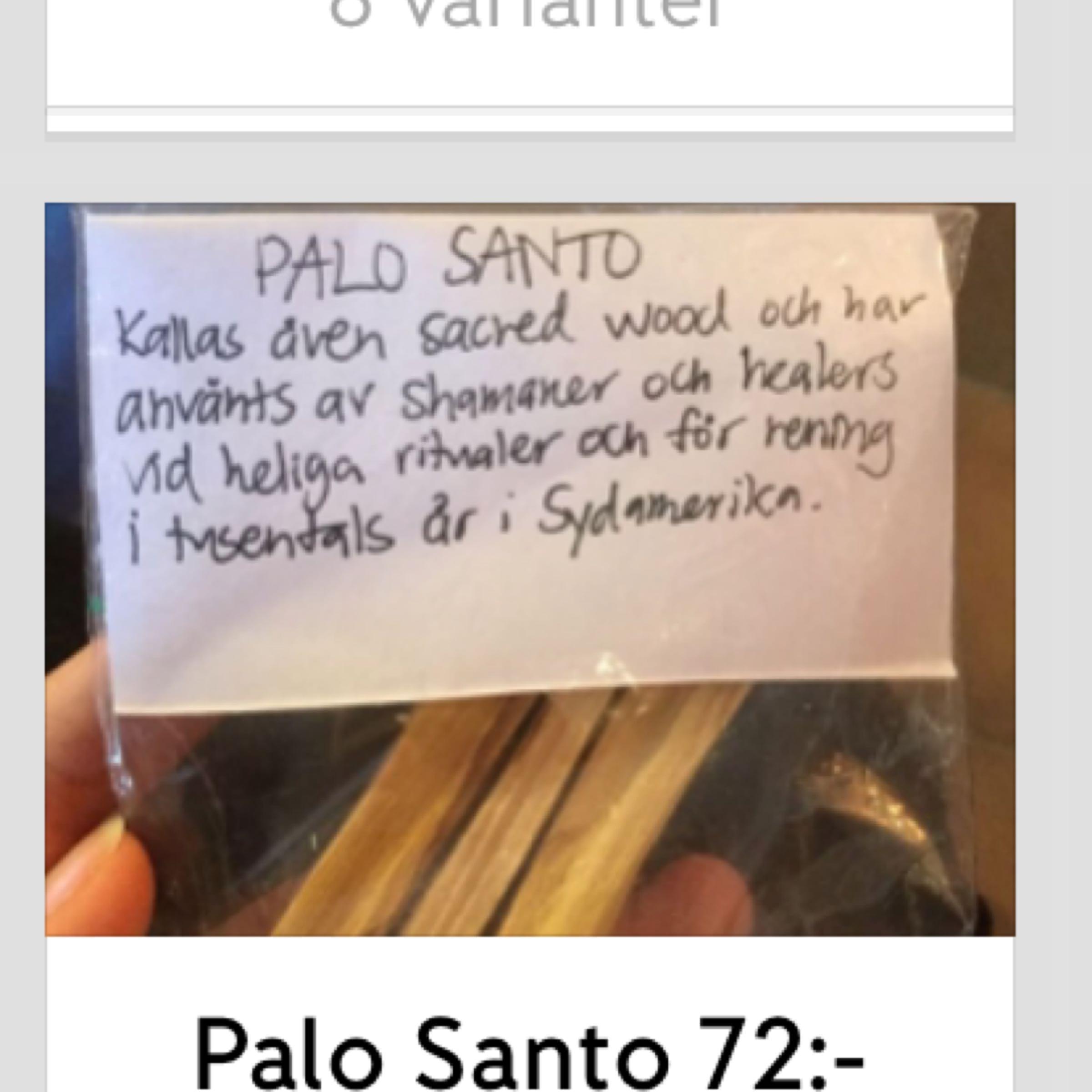 Rökelser Palo Santo