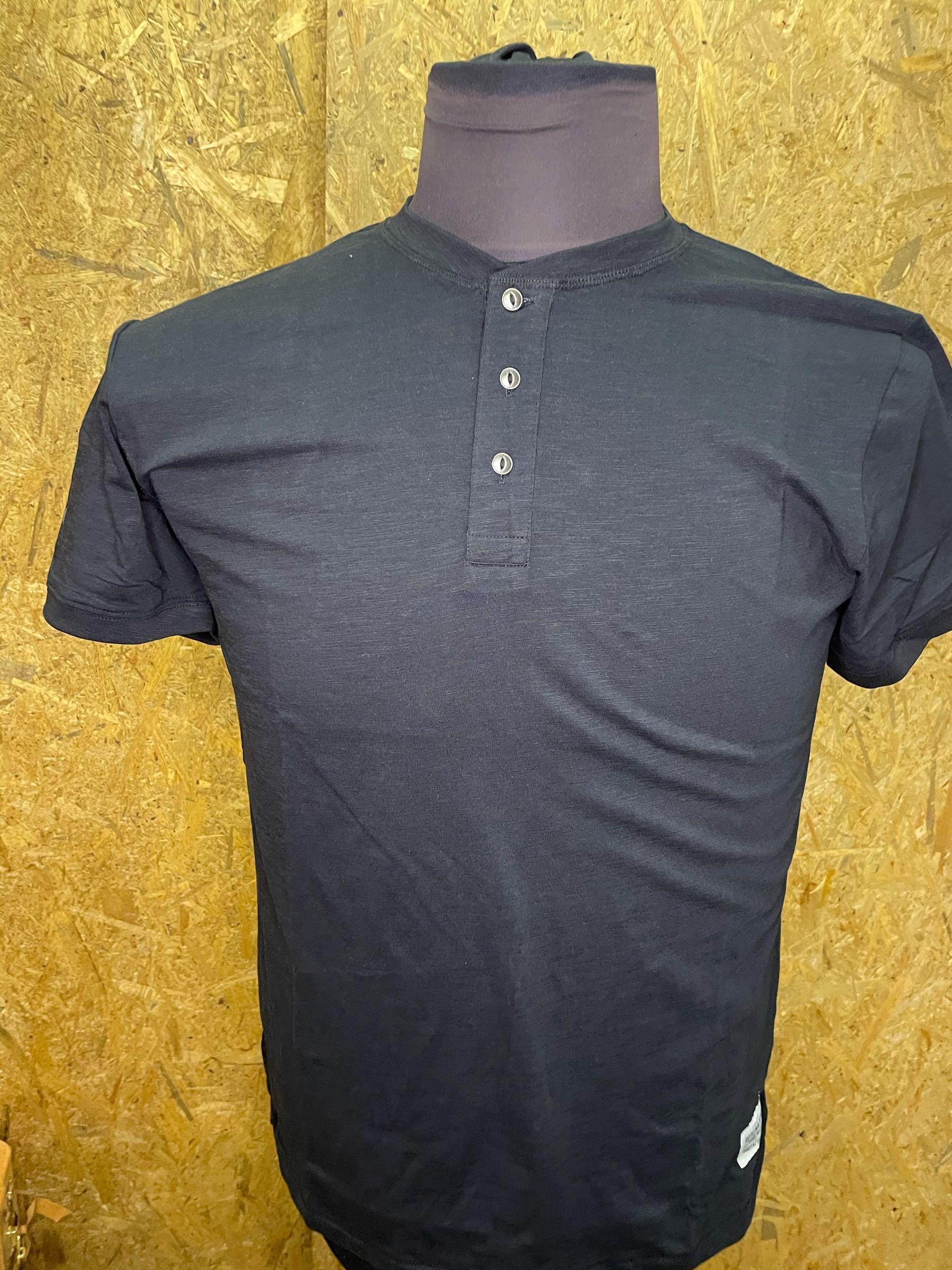 Replika Jeans Grandad t -shirt Sort11320