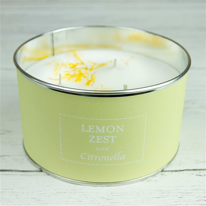 'Lemon Zest' Triple Wick Candle in a Tin