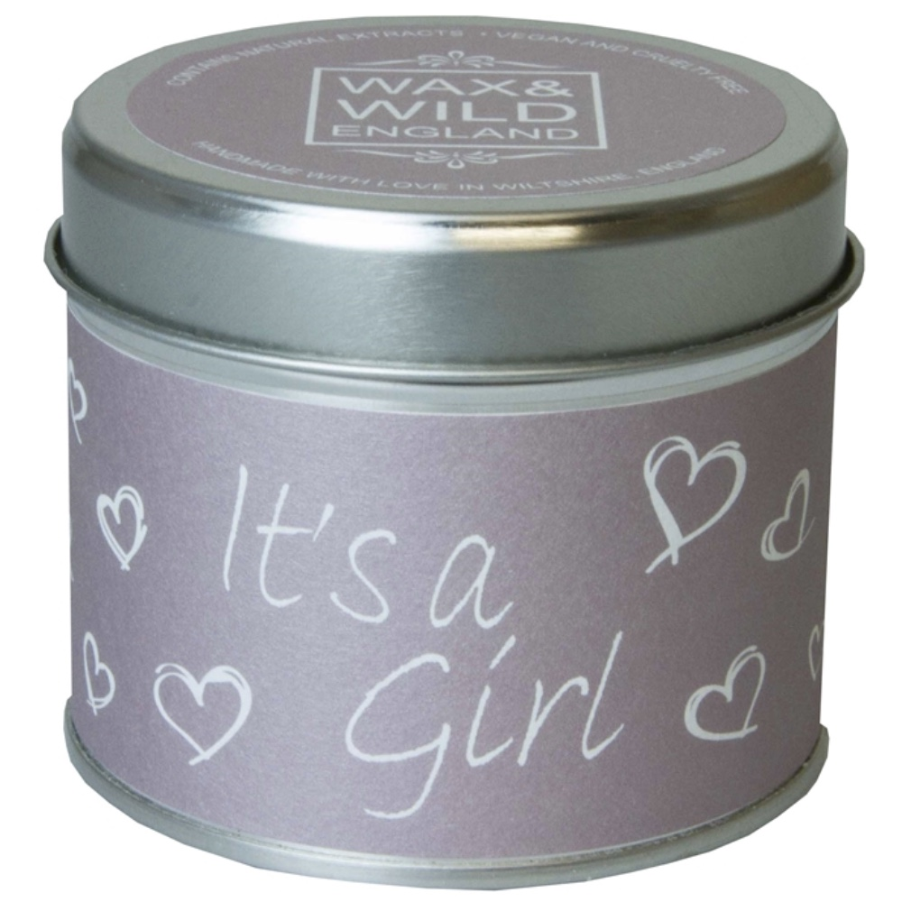 'It's a Girl' Sentiments Candle in a Tin