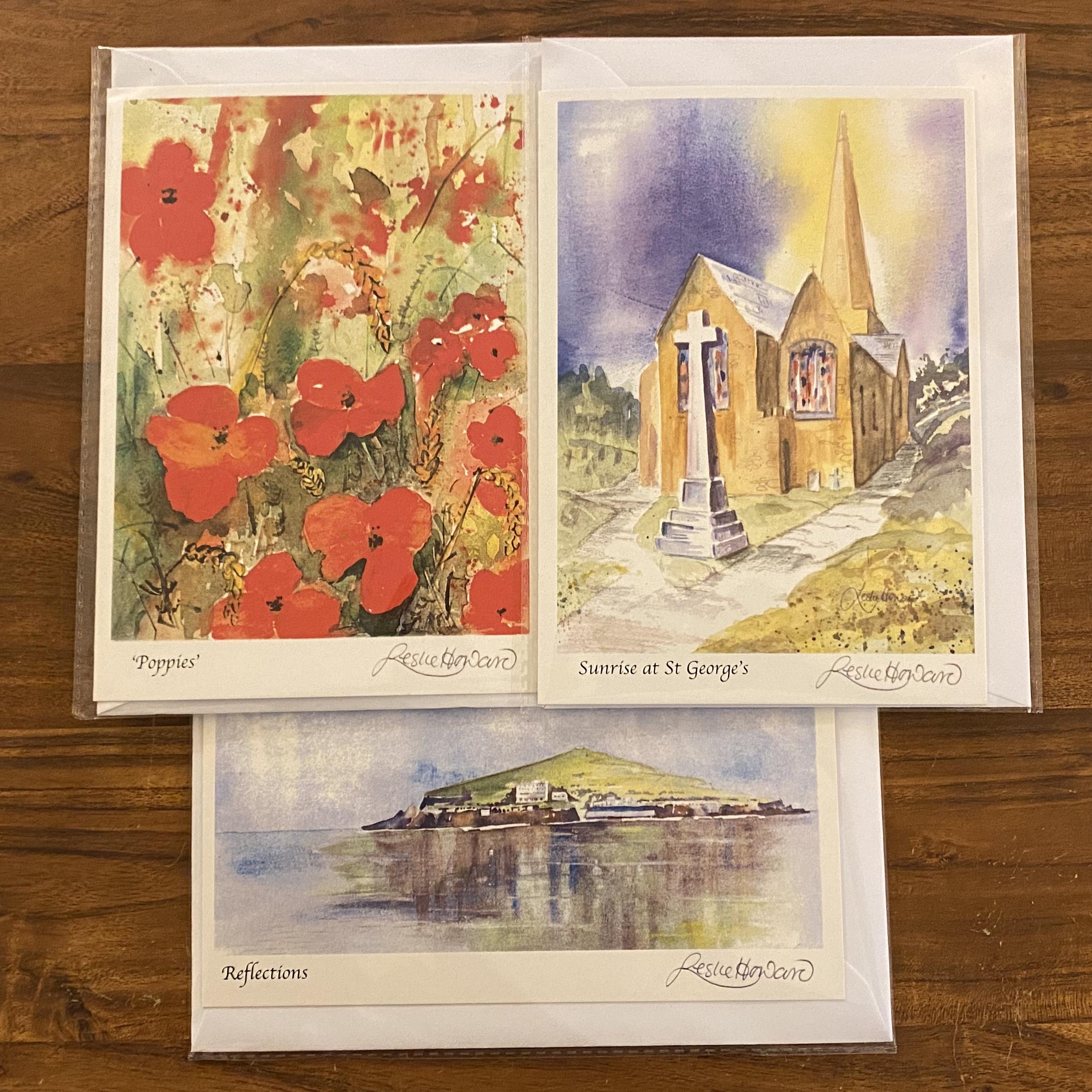 Leslie Howard Watercolour Card