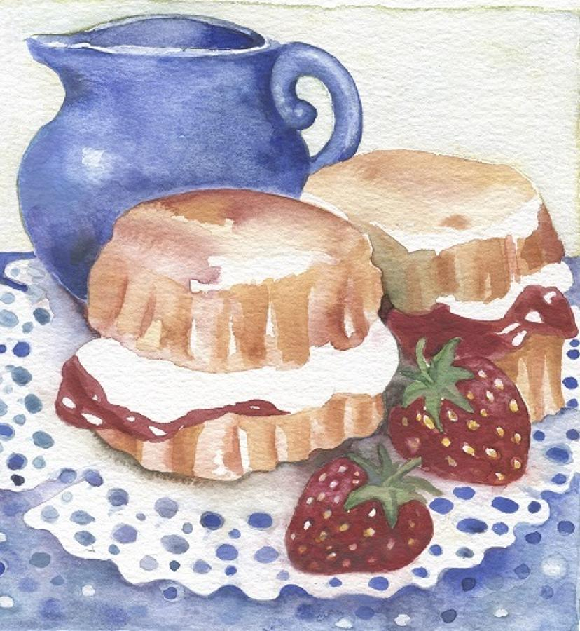 'Cream Tea' Furzedown Gallery Mini Card
