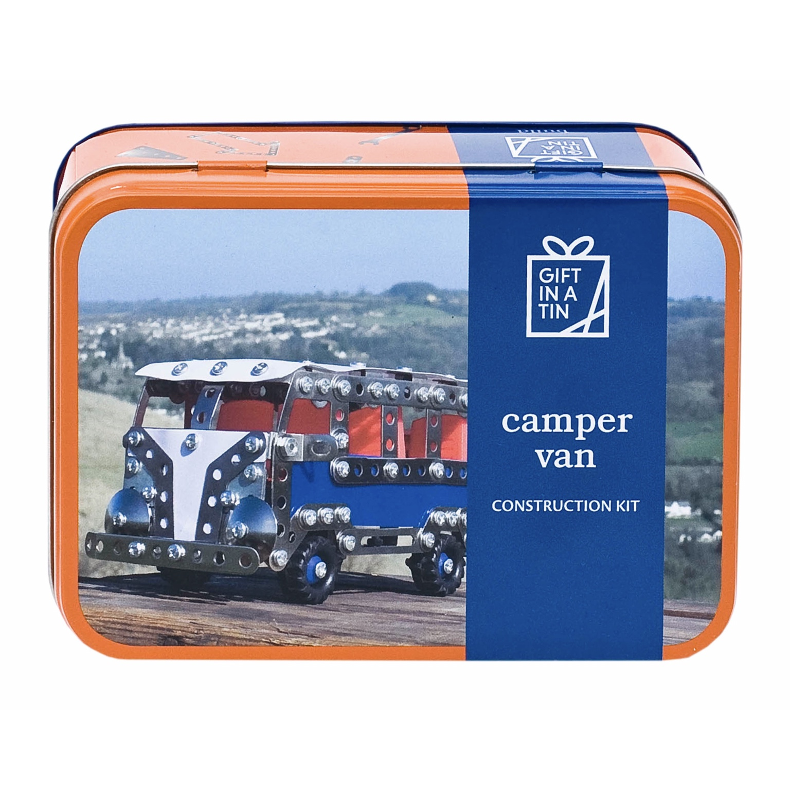 'Camper Van Construction Kit' Gift in a Tin