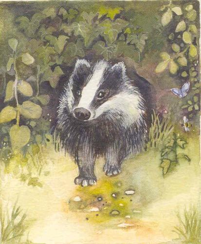 'Badger' Furzedown Gallery Mini Card