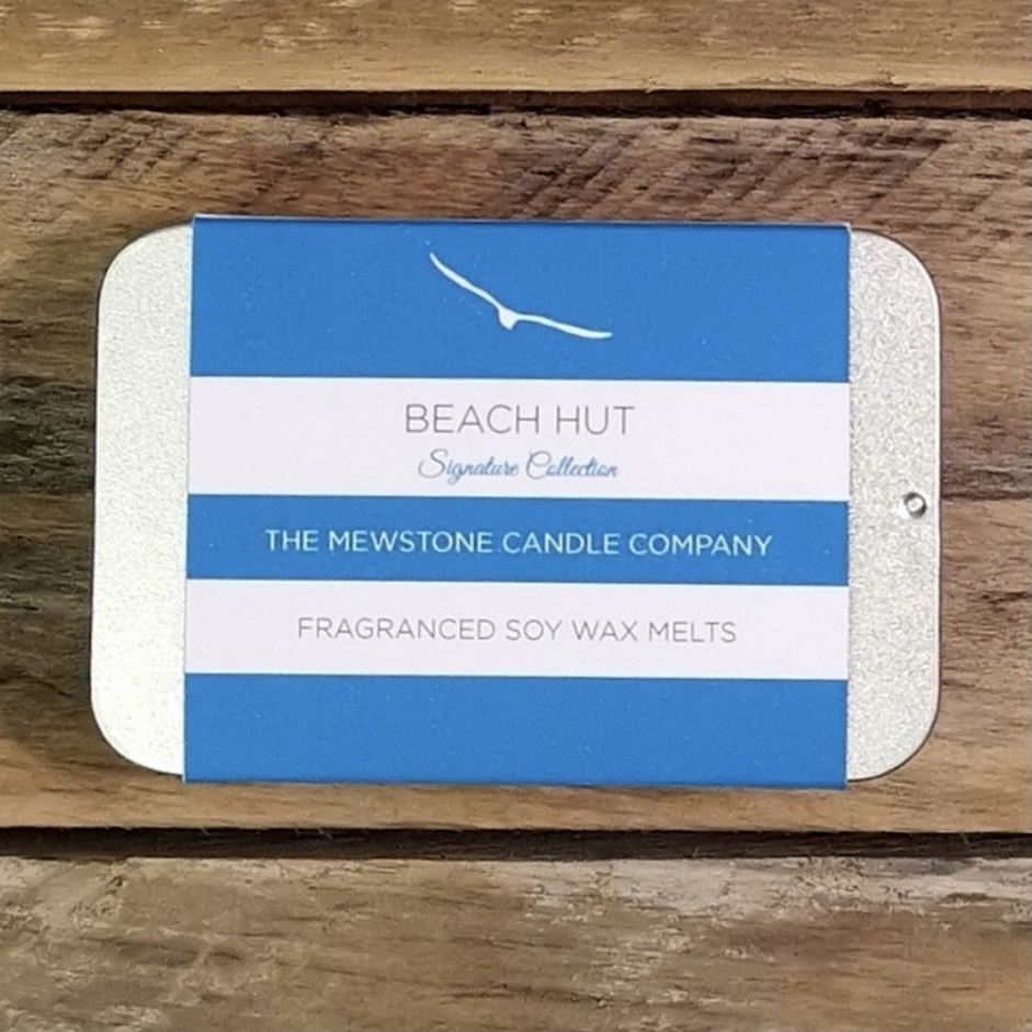 'Beach Hut' Slider Tin