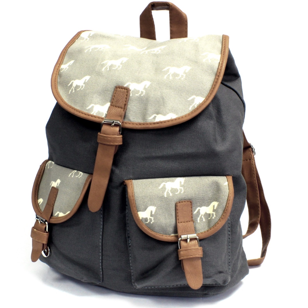 Horses 2 Pocket Traveller Backpack