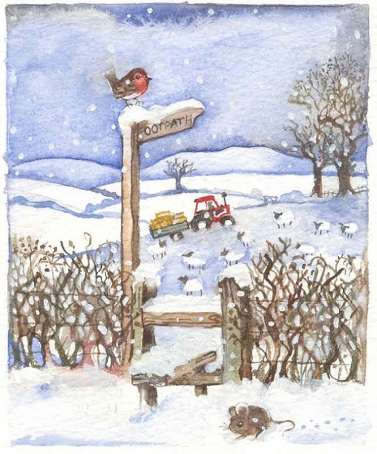 'Footpath in the Snow' Furzedown Gallery Mini Card