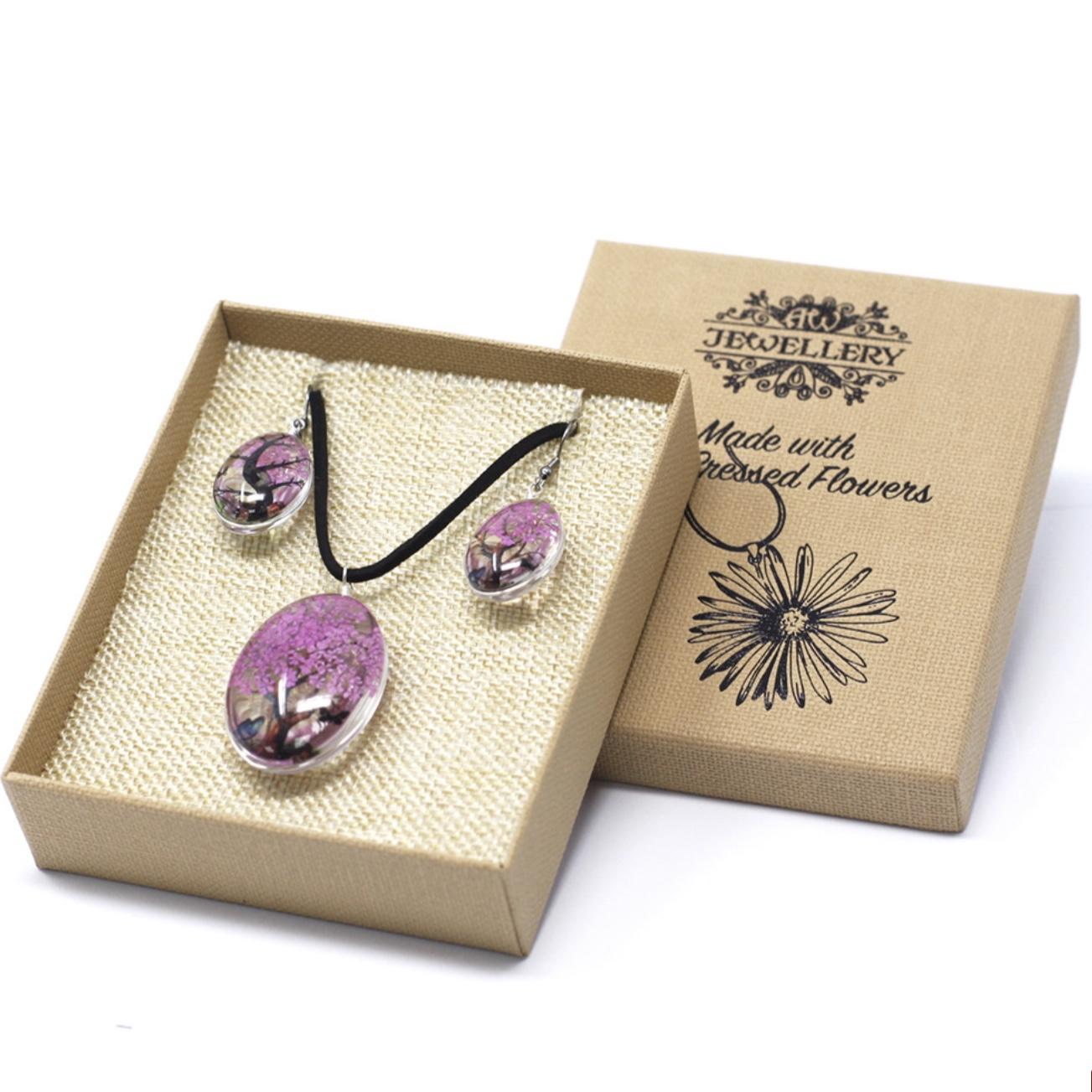 Tree of Life Jewellery Set - Bright Pink