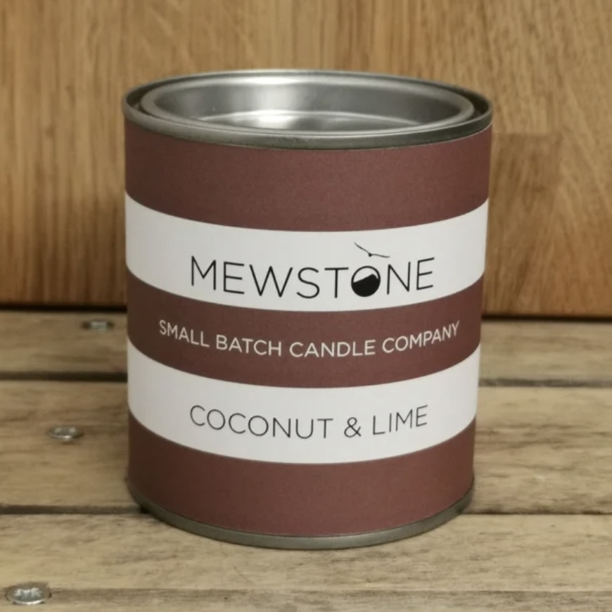 'Coconut & Lime' Paint Tin Candle