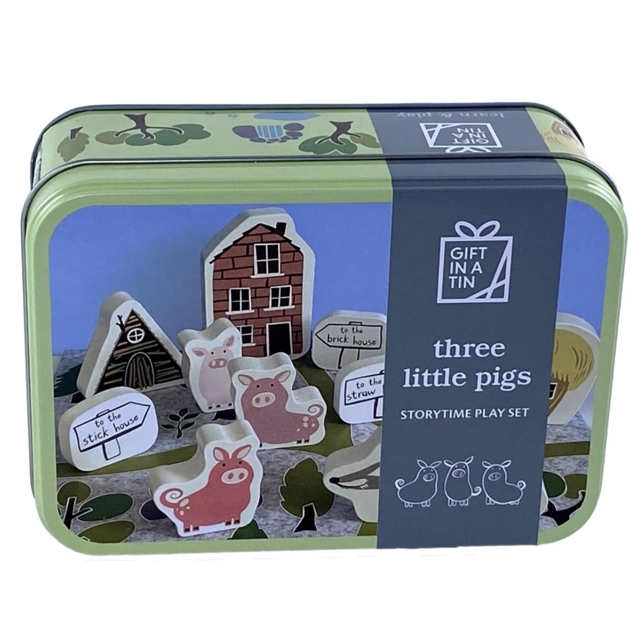 Three Little Pigs Tin
