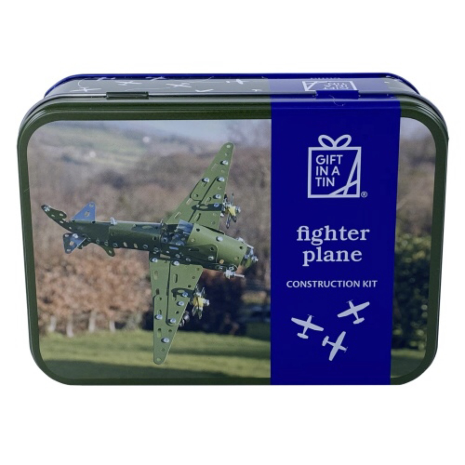 'Fighter Plane Construction Kit' Gift in a Tin