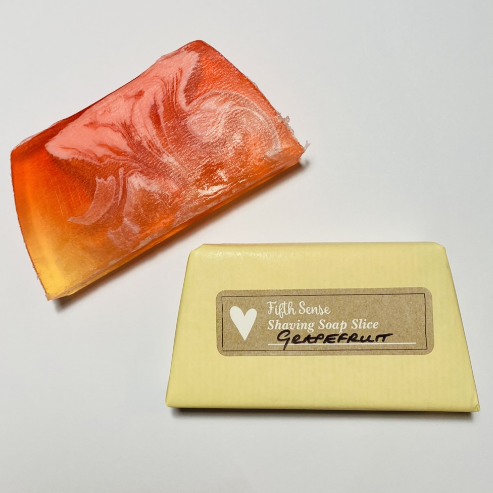 'Grapefruit' Shaving Soap Slice